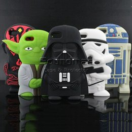 Wholesale Silicone Rubber Iphone Robot - Alien Robot Warriors Darth Vader Silicone cartoon Phone Cover Case Soft Silicon 3D Cute Rubber Case for iphone 8 7 6 6s plus 5 SE