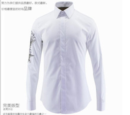 Wholesale Fishing Shirt Xl Long Sleeve - Hot Sale Free Shipping 2016 New Arrival Fashion Fish Printed Style Famous Design Slim Fit High Quality Mens Casual Long-Sleeved Shirt