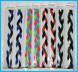 Wholesale Headband Stands - 150pcs New product woman sport 3 stands Braided Mini Headband -Mulit-Color free shipping