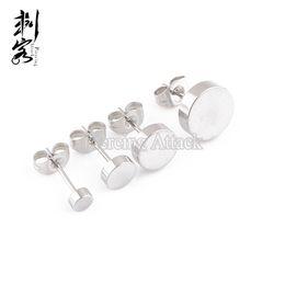 Wholesale Stainless Steel Body Jewlery - Free Shipping Surgical Steel Plain Disc Earring Fancy Stud Earring Piercing Body Jewlery Lot of 30 Piece