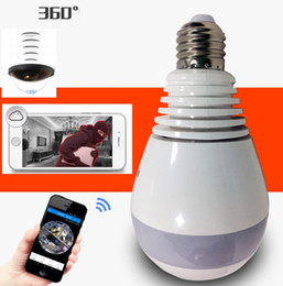 Wholesale Wireless Security Light Camera - E27 Bulb Light Wireless IP Camera Wi-fi FishEye 960p 360 degree Mini CCTV Panoramic Camera 1.3MP Home Security System V380