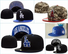 Wholesale Closed Cap Hats - (6 pieces lot) High quality Fitted hats for man and woman baseball caps sports fashion hip hop closed hats free shipping