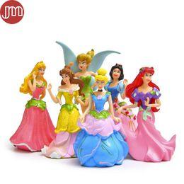 Wholesale Snow White Cake - New 6pcs Princess Toys Snow White Cinderella Jasmine Ariel Flower Fairy Tinker Bell Anime Figure Baby Dolls Kid Gift Cake Topper