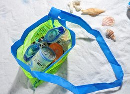 Wholesale Toys For Two Women - Built your Brand Custom Logo BABY Mesh Beach Tote Bag - Good for the Beach Family Children Play(swim, Toys, Boating. Beach Picnic