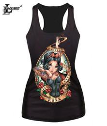 Wholesale T Shirt Little Mermaid - New 2016 Women T-shirt The Little Mermaid Vest Ture Love Princess Cartoon Printed Camisole Sexy Fashion Punk Tank Tops F42