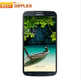 Wholesale Mobile Gps 3g - Free DHL Original Samsung Galaxy Mega 6.3 I9200 mobile phone GPS Wi-Fi NFC 3G 8.0MP Camera 16GB Storage Refurbished Cell phone