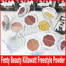 Wholesale Making Pancakes - Fenty Beauty BY Rihanna pressed powde killawatt freestyle-highlighter pancake make-up owder repair capacity Two color cream powder