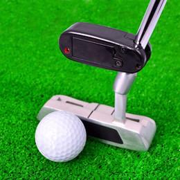 Wholesale Mini Putter - 2017 Mini Black Golf Putter Laser Training Line Corrector Improve Aid Tool Golf Practice Accessories