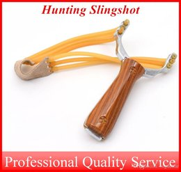 Wholesale Aluminium Rubber - Sling Shot Durable rubber band made by Aluminium Alloy Slingshot Camouflage Bow Catapult Outdoor Hunting OUT046