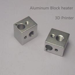 Wholesale Hot End Printer - 3D Printer Parts Reprap E3D V6 Aluminium Heater Block for Hot End Sand Blasting Surface 16*16*12 mm Aluminum Block Heater 1503554