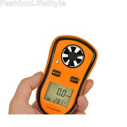 Wholesale Digital Pocket Anemometer - Wholesale-Digital Pocket Anemometer Wind Speed Meter Thermometer Free Shipping