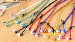 Wholesale Waterproof Mp3 Bluetooth Headphones - New Microphone Mic Earbuds Premium 3.5mm Tangle-Free Zipper Earphones Headset mp3 waterproof bluetooth headphones for girls