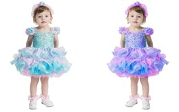 Wholesale toddler dance dresses - Super Cute Girl Newborn Beautiful Short Pageant Dress With Beadings Glitz Ball Gowns Dance Birthday Gift Toddler Cupcake