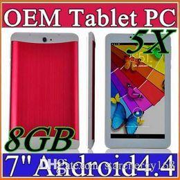 Wholesale Cheap Wifi Sim Tablets - 5X EMS 2014 tablet pcs 7 inch 3G Phablet Android 4.4 MTK6572 Dual Core 8GB Dual SIM GPS Phone Call WIFI Tablet PC cheap china phones B-7PB