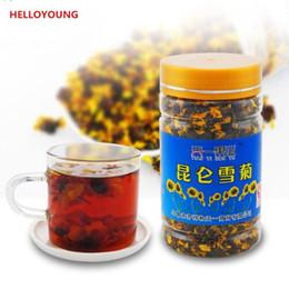 Tè del fiore del crisantemo online-45g Organic scatola Kunlun Mountain Snowy margherita crisantemo tè naturale del fiore del tè Nuovo tè profumato Green Food