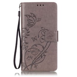 Wholesale Cover Huawei Butterfly - For Huawei P9 lite plus Wallet Leather Case PU Flip Soft Gel Cover Embossed Flower Butterfly for Honor 5C 5X Y6 G8 4X