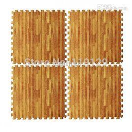 Wholesale Wood Floor Tile - Wholesale-Free Post Yoga Gym Interlocking EVA Foam Mat Children Room Wood Floor Gym Mats Thick Squares Tile Educational Foam Puzzle