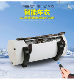 Wholesale Wholesale Sunscreen Fabric - NEW intelligent remote automatic sewing sewing sunscreen car explosion rewinding sewing sunshield