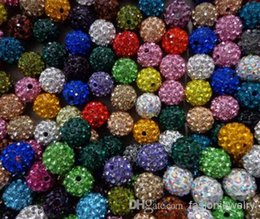 Wholesale Mixed Color Crystal Cross Beads - hotsale 10mm 300pcs lot mixed multi color Crystal Shamballa Bead Bracelet Necklace Beads.Hot spacer beads Lot!Rhinestone DIY spacer