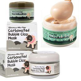 Wholesale Anti Acne Face Mask - makeup milky piggy carbonated oxygen bubble clay Mask 100g remove blackhead acne Purifying pores face care facial sleeping mask Elizavecca
