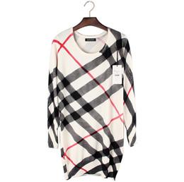Оптовая Продажа-2016 Высокое Качество Бренд Стиль Женщины Мода Полосатый Печатных Длинные Вязаные Пуловеры Свитера от