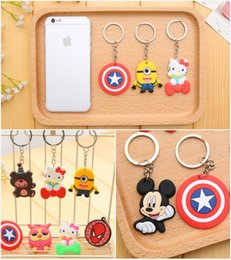 Wholesale Novelty Key Cases - 240pcs Free DHL Key Caps 8 Styles Adorable Animals Silicon Keychain Covers Keys Case Shell Novelty Item Car Accessories Keychain E661E