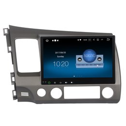 "Wholesale Dvd Usb Tv - 10.2"" 2G RAM Android 7.1 System Car DVD Radio For Honda Civic 2006-2011 With GPS Navi Receiver BT RDS OBD DVR WIFI 4G SWC USB SD Quad Core"