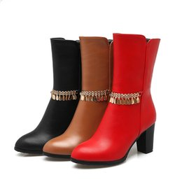 Wholesale Girls Boots Leather Sexy - Sexy girls in warm boots Martin boots Quality assurance Manufacturers wholesale Europe and the United States the most fashionable popula