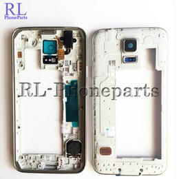 Wholesale Small Housed - 10pcs lot OEM LCD Middle Plate Housing Frame Bezel Camera Cover all small parts For Samsung Galaxy S5 G900F G900H G900A G900V G900T silver