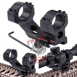 Wholesale Tactical Ring Flashlight - Heavy Duty Cantilever Dia 30mm 25.4mm Ring Scope 20mm Rail Weaver Tactical Mount For Rifle Scope Sight Flashlight