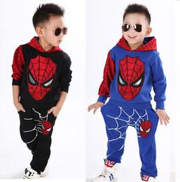 Wholesale Kids Spiderman Sweaters - 3T-7T Baby Boy Spiderman Cotton Hoodies Clothes Set Kids Boys Halloween Fantasy Costume Boy Superhero Carnival Sweater Child Cartoon Outwear