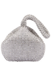 Wholesale Bling Hand Bags - Bling Rhinestone Heart Evening Handbag Gold Black Silver Party Bags Purse Single Short Strap Formal Bridal Hand Bags CPA959