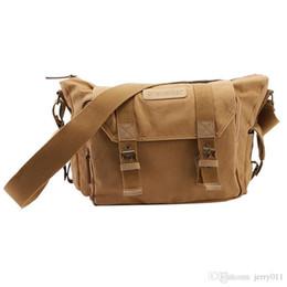 Wholesale Dslr Camera Canvas Messenger Bag - Fashion 2016 Men Vintage Canvas Shoulder Messenger Camera Bag for DSLR Nikon Sony # LY064