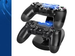 Wholesale Dock Charger Docking Station - Dual Chargers for Controllers Charging Dock Stand Station For Sony PlayStation 4 PS4 PS 4 X-box