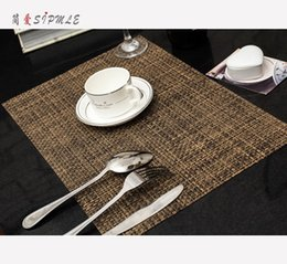 Wholesale Doily Bowl - Table mat thick mat Continental Western pad heat pad Japanese meal cloth PVC coasters mat bowls mat doily cutlery