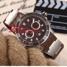 Wholesale 48mm Quartz - 5 Color Luxury High Quality Watch 46mm UN 48mm Diver Series Rubber Bands Sapphire Glass VK Quartz Chronograph Working Mens Watch Watches