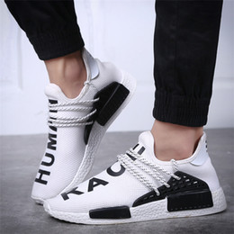 Wholesale H Shoes Men - Human Race NMD Factory Real 2017 Yellow Red Green Black Orange NMD Men Pharrell Williams X H NMD Casual Shoes Sneakers Size 36-44