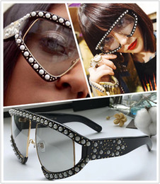 Wholesale Popular Designs - 0234S Sunglasses Frame Inlaid jewelry Design With Popular 0234 Sunglasses Popular Irregular design UV Protection Sunglasses Top Quality