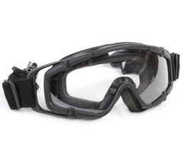 Wholesale Tactical Airsoft Helmet - FMA Tactical Ballistic Goggle Glasses Airsoft 2pcs of Lens for Helmet Paintball Adjust Safety Eyewear Protective Eyes