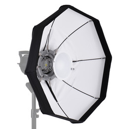 softbox bowens Rebajas Venta al por mayor- 8-Pole 60cm blanco plegable plato de belleza Softbox con Bowens Mount para Studio Strobe Flash Light