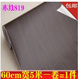 Wholesale Closet Door Styles - pvc self-adhesive wallpaper wallpaper wood wardrobe closet doors wood furniture renovation stickers wall stickers free shipping-503