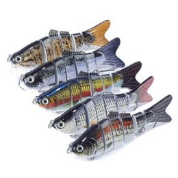 Wholesale Minnow Hard Baits - Fishing Lure 1 pcs Fishing Tackle 6 Segments Hard Bait Swimbait Minnow Lure Pesca Wobbler 18g 10cm Artifical Lures with Hooks