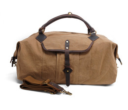 Wholesale Cross Body Backpack For Men - Patchwork Canvas Bags Travelling Backpacks Big Capacity Sporting Trip Bag for Men Retro Tote Bags with Cross-body Strap