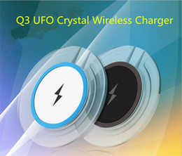 Wholesale New Portable Phone Chargers - Hot sales wholesale new Qi wireless phone charger portable fantasy crystal universal LED lighting tablet charging for smart phones
