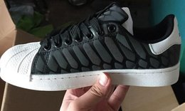 Wholesale New Flux - 2016AdidasThe chameleon men's and women's shoes ZX FLUX XENO new reflective black snake spirit leisure