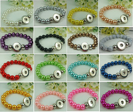 Wholesale Handmade Stretch Bracelets - mix noosa series handmade Alloy snap button Stretch Bracelets fit chunk snap button charm wholesale #1