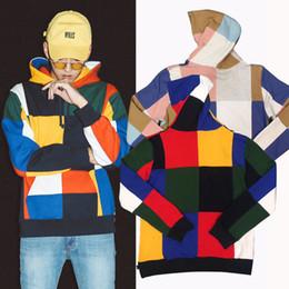 Wholesale Long Sleeves Fleece - Fashion box logo Hoodie Winter Skateboard Patchwork Hooded Sweatshirt Men Women Street Hoody