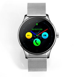 Wholesale Mm Phone - Round Bluetooth Smart Watches Clock Classic Health Metal Smartwatch with Heart Rate Monitor for Android ISO iPhone Phone