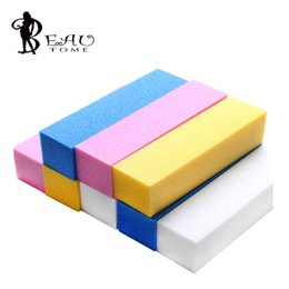 Wholesale buff color - Wholesale- 1pcs Mixed 94*25*25mm Buffer Buffing Sanding Files Block Acrylic Nail Art Tips Manicure Tool Wholesale Hot Selling Randon color