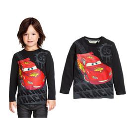 Wholesale T Shirt Cars Baby - hot selling boys top tshirt Cartoon Cars personalized printed black t shirt Baby Kids Boy Long sleeve T-Shirt Blouses Hoodie free shipping